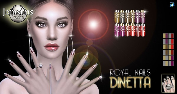 Jom Sims Creations: Dinetta nails