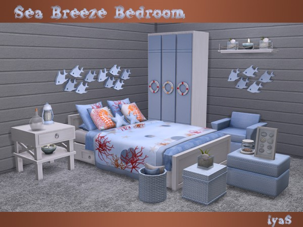 The Sims Resource: Sea Breeze Bedroom by soloriya