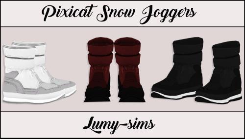LumySims: Pixicat Snow Joggers