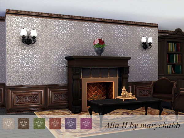 The Sims Resource: Alia set walls by marychabb