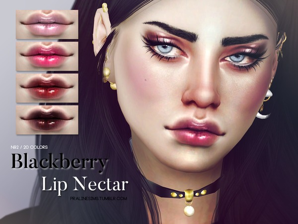 The Sims Resource: Blackberry Lip Nectar N92 by Pralinesims