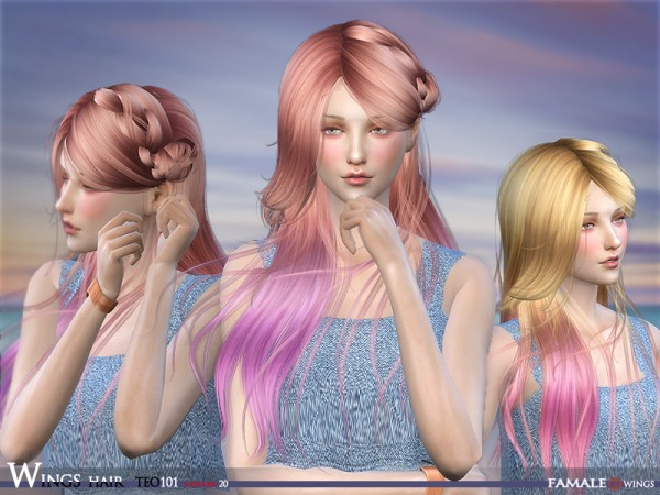 The Sims Resource: Wingssims hair TEO101 F