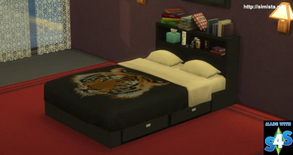Simista: Part of the Emily Black Contemporary Bedroom