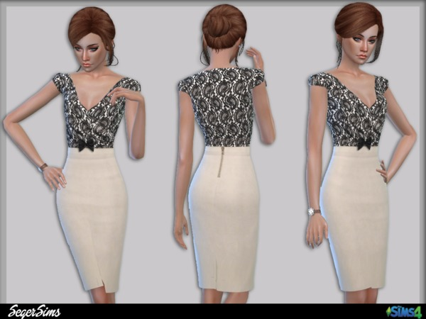 The Sims Resource: Office Pencil Dress by Seger Sims