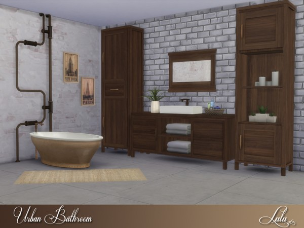 The sims resource urban bathroom by lulu265 sims 4 for Bathroom ideas sims 4