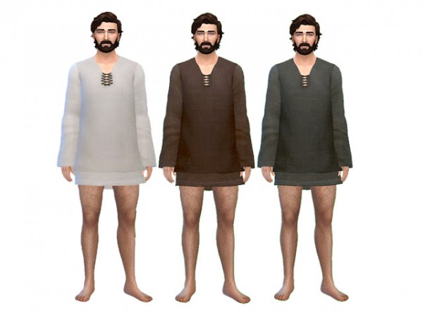 History Lovers Sims Blog: Mens Medieval Sleeping Tunic