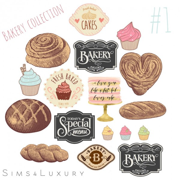 Sims4Luxury: Bakery collection 1