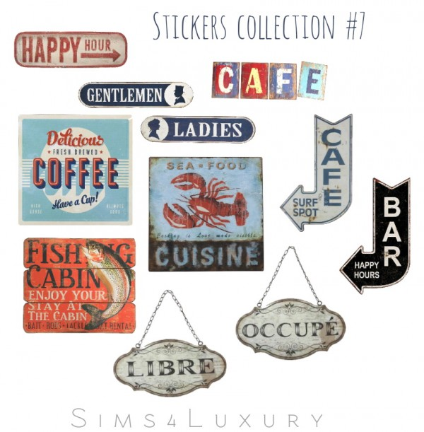 Sims4Luxury: Stickers collection 7