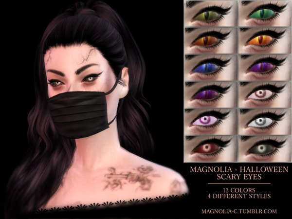 The Sims Resource: Halloween Scary Eyes by magnolia cc