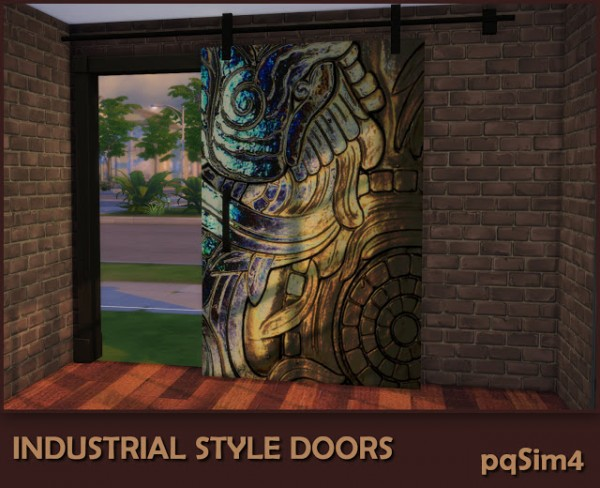 PQSims4: Industrial Style Decor Doors