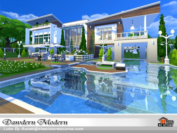 The Sims Resource: Dawdern Modern house by autaki