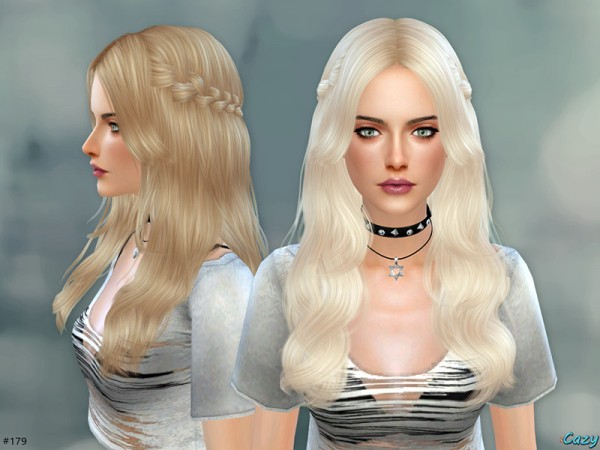 The Sims Resource: Cazy Sandy Hairstyle
