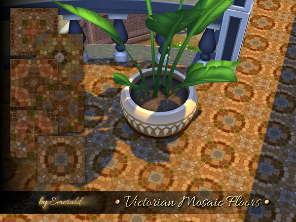 The Sims Resource: Victorian Mosaic Floors by Emerald