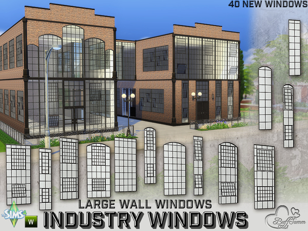 The Sims Resource Industry Windows For Large Wall Size By