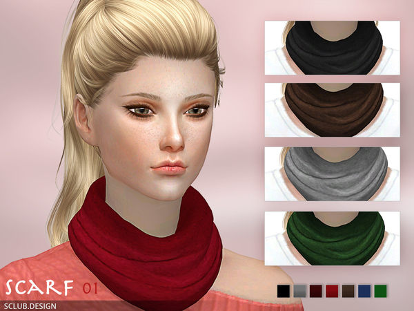 The Sims Resource: Scarf N1 F by S Club