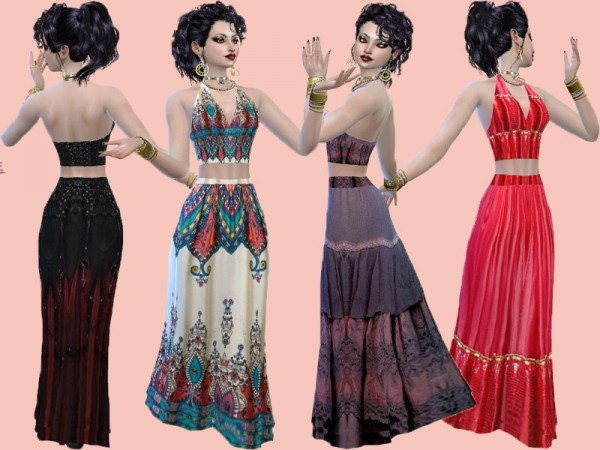 Trudie55: Maxi skirt set