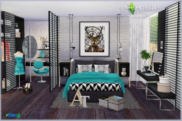 SIMcredible Designs: Go trendy bedroom