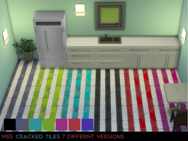 Simsworkshop: Cracked Tiles by midnightskysims