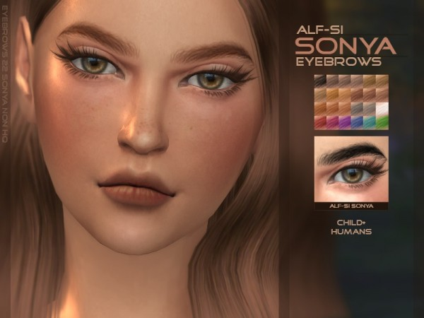 The Sims Resource: Sonya   Eyebrows HQ & Non HQ