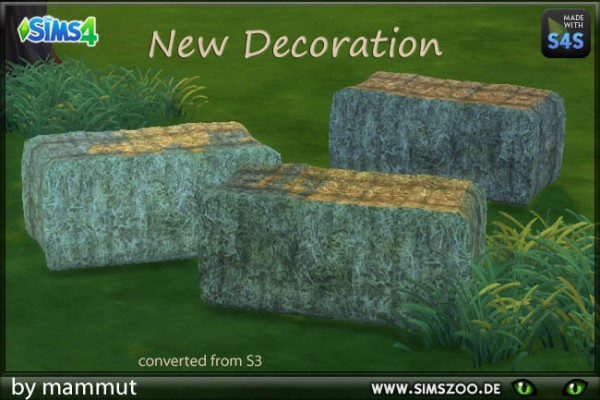 Blackys Sims 4 Zoo Straw Bales By Mammut Sims 4 Downloads