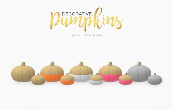 One Billion Pixels: Decorative Pumpkins
