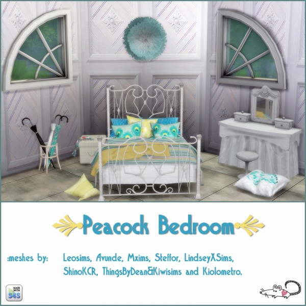 loveratsims4 peacock bedroom sims 4 downloads