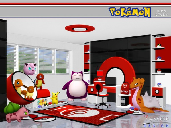 The Sims Resource: Pokemon Kids Study by NynaveDesign
