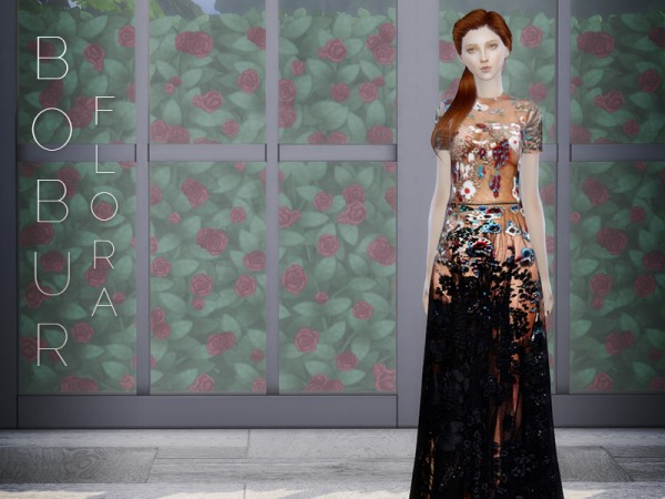 The Sims Resource: Flora gown by Bobur