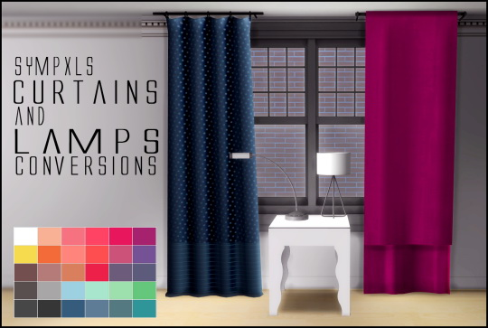 Simsworkshop: Curtains and Lamps by Sympxls