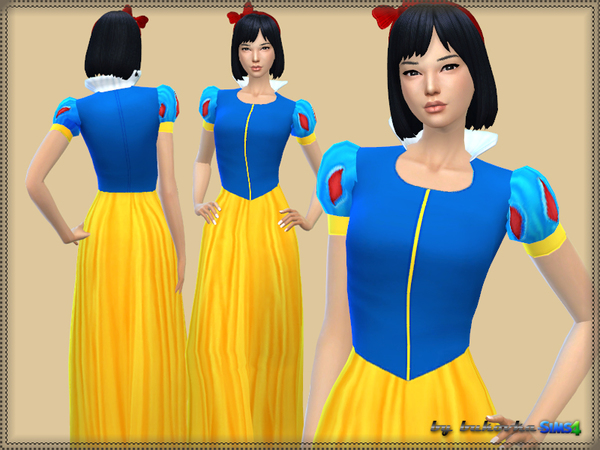 The Sims Resource: Snow White Dress by bukovka