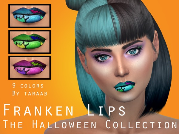 The Sims Resource: The Halloween Collection   Franken Lips by taraab