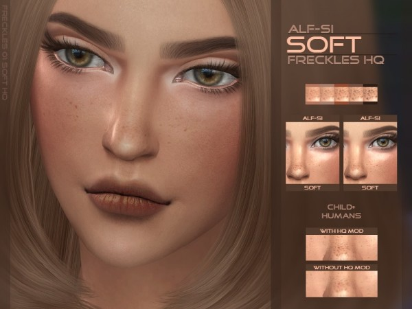 The Sims Resource: Soft   Face Freckles HQ by Alf si