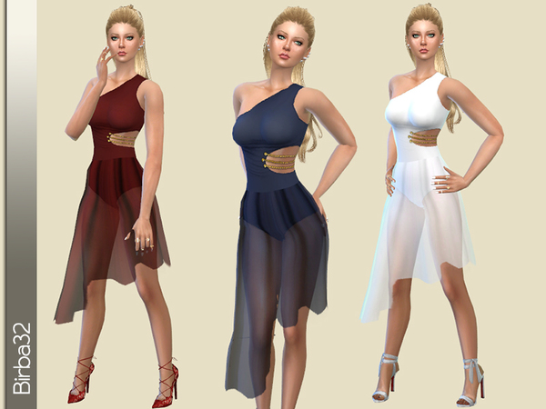 The Sims Resource: Private Club Dress by Birba32 • Sims 4 Downloads