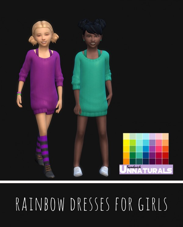 Simsworkshop: Rainbow Dresses For Girls by maimouth