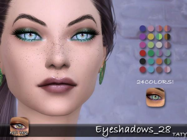 Simsworkshop: Eyeshadows 28 by Taty