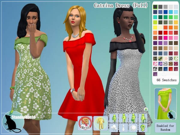 Simsworkshop: Catrina Dress by Standardheld
