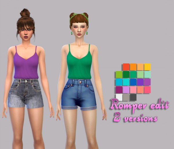 Simsworkshop: Romper  2 versions by maimouth