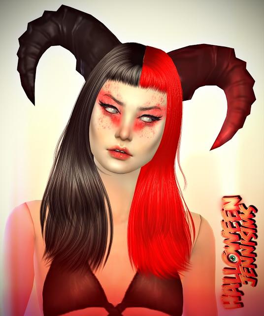 Jenni Sims Halloween Horns Sims 4 Downloads