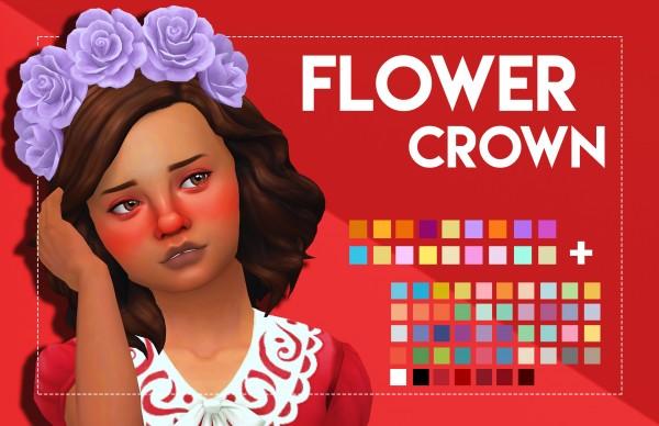 Simsworkshop: Flower Crown   Childrens Version