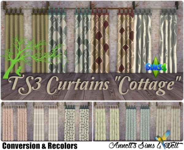 Annett`s Sims 4 Welt: Curtains Cottage