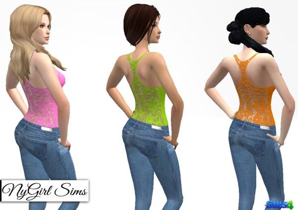 NY Girl Sims: Laced Racerback Tank