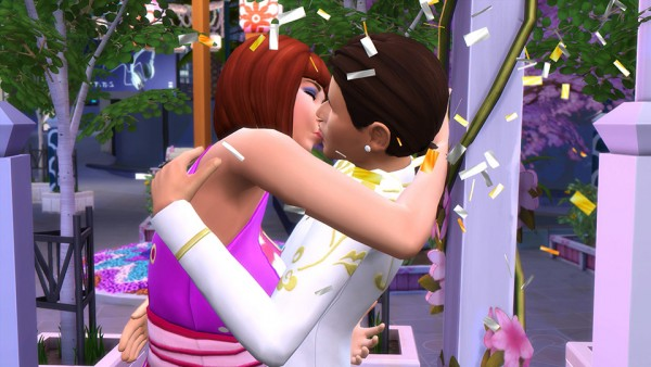 The Sims: Find True Love at the Romance Festival in The Sims 4 City Living