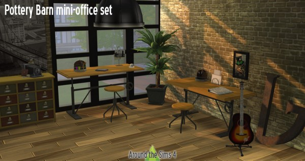 Around The Sims 4 Pottery Barn Mini Office Sims 4
