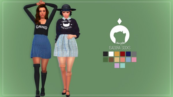 Ikari Sims Isadora Mismatched Socks Sims 4 Downloads