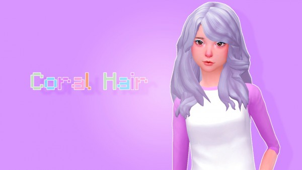 Sulsul Sims: Coral free hairstyle