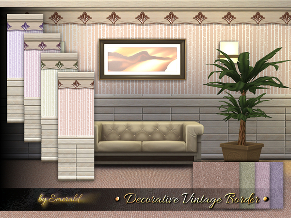 The Sims Resource: Decorative Vintage Borderby emerald