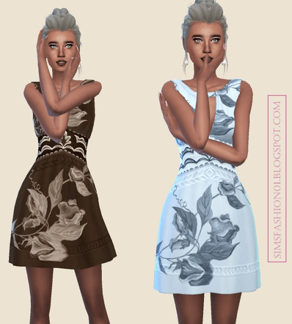 Sims Fashion 01: Indie Fashion dress