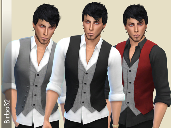 The Sims Resource: Double Gilet Man by Birba32