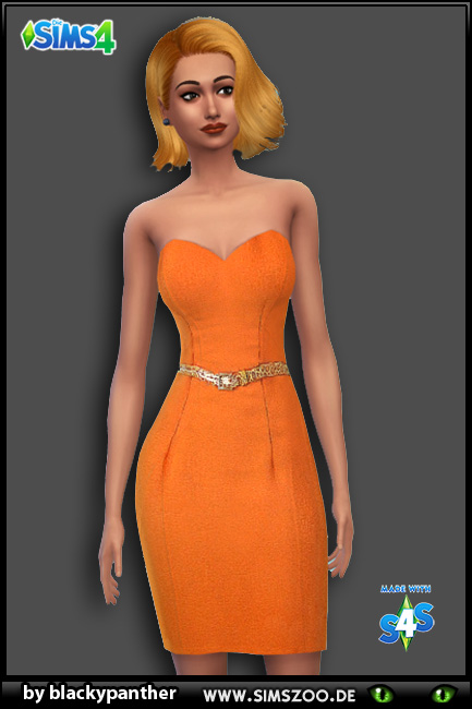 Blackys Sims 4 Zoo: Cockatil dress 10 by blackypanther