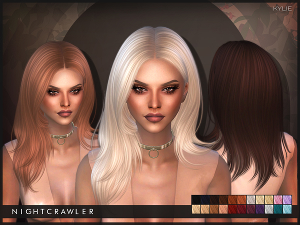 The Sims Resource: Nightcrawler`s Kylie hairstyle